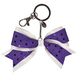AC123 - Chass&eacute;<sup>&reg;</sup> Mini Sequin Bow Keychain