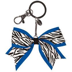 AC125 - Chass&eacute;<sup>&reg;</sup> Mini Zebra Bow Keychain