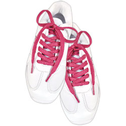 AC1302 - Pink and Silver Shoelaces