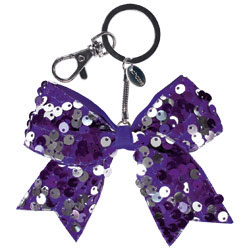 AC1414 - Chass&eacute;<sup>&reg;</sup> Mini Dangle Sequin Bow Keychain