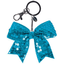 AC1415 - Chass&eacute;<sup>&reg;</sup> Mini Solid Sequin Bow Keychain