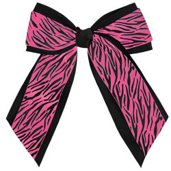 AC281 - Chass&eacute;<sup>&reg;</sup> 2-Color Animal Print Hair Bow