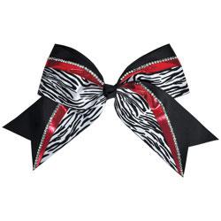AC337 - Chass&eacute;<sup>&reg;</sup> Jumbo Metallic Zebra Hair Bow