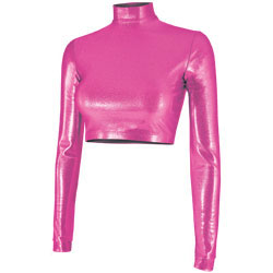 BR400M - Chass&eacute;<sup>&reg;</sup> Metallic Cropped Bodysuit