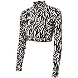 BR504Z - Chass&eacute;<sup>&reg;</sup> Zebra Cropped Bodysuit
