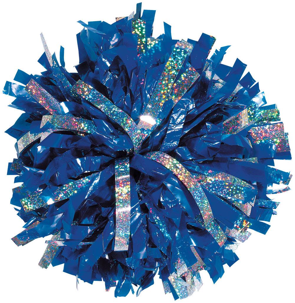 Custom 1 Color Plastic With Holographic Flash Pom Omni Cheer