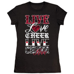 M1313T - Live Love Cheer Fitted Tee