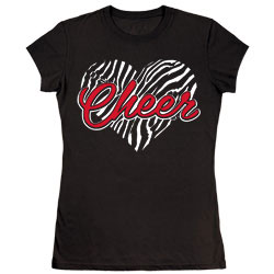 M1320T - Zebra Cheer Heart Tee