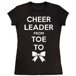 M1414T - Toe To Bow Glitter Tee