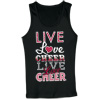 M1522A - Live Love Cheer Repeat Tank