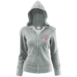 P209K - Cheer For The Cause® Heart Ribbon Hoodie
