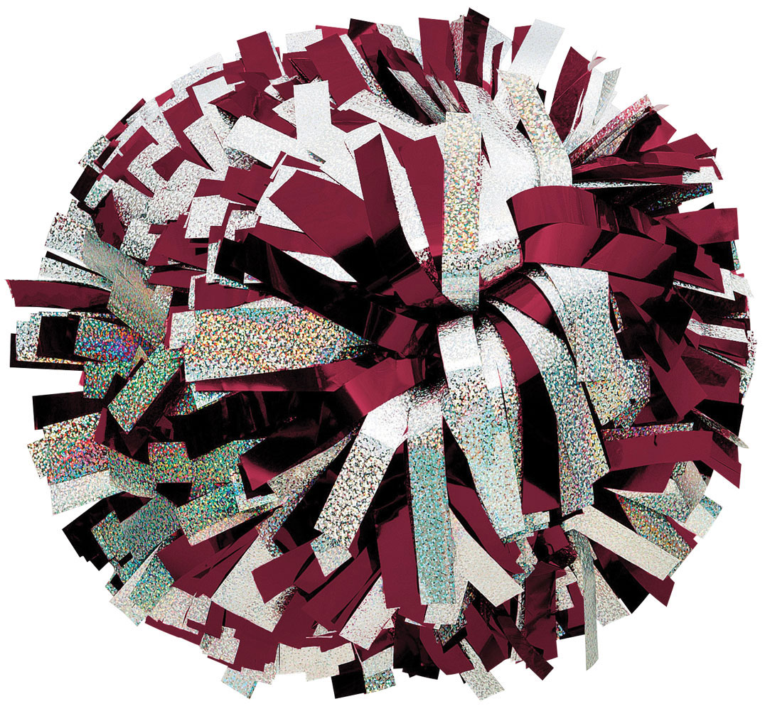 1-Color Metallic with Holographic Mix Pom - Omni Cheer